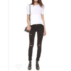 Frame Denim Le Skinny de Jeanne black size 25